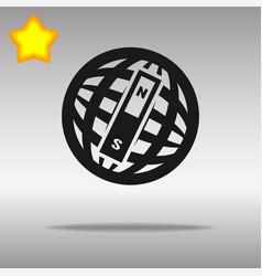 compass black con button logo symbol concept vector image
