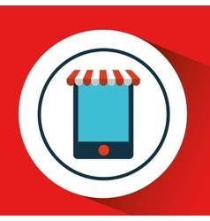 Digital e-commerce smartphone icon design vector