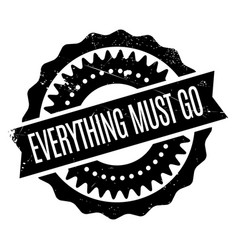 Everything must go rubber stamp vector