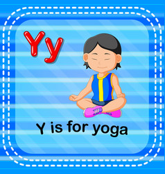 Flashcard letter y is for yoga vector
