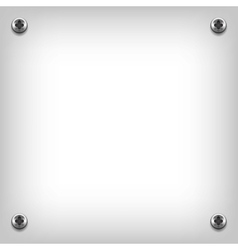 Metal plate texture with screws vector