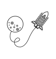 moon rocket space astronomy universe science vector image