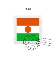 Niger flag postage stamp vector