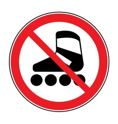 no roller sign vector image vector image