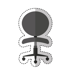office chair isolated icon vector image vector image