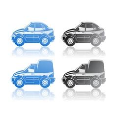 sedan and van vector image