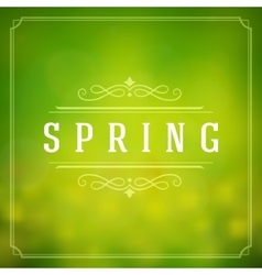 Spring Typographic Poster or Greeting Card vector image vector image