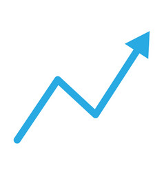 Trend up graph icon in trendy flat style isolated vector
