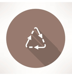 Triangular cycle arrow icon vector