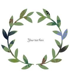 Wreath vintage 2 vector image vector image