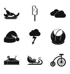 youthfulness icons set simple style vector image vector image