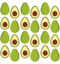 Avocado fruits background design vector image