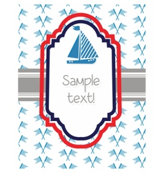 Nautical or marine themed card vector