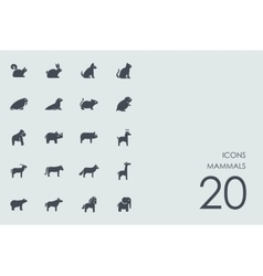 Set of mammals icons vector