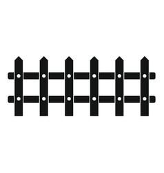 cartoon flat fence isolated on white background vector image