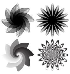 Flower swirls vector image