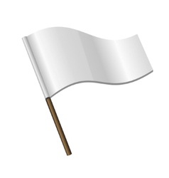 White curl flag icon vector