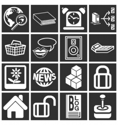 Various icons vector