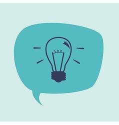 Bulb idea design vector