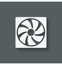 fan design symbol vector image