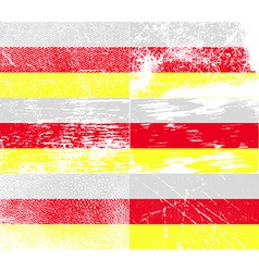 Flag of north ossetia with old texture vector