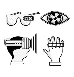 3d eyeglasses virtual game entertainment vector