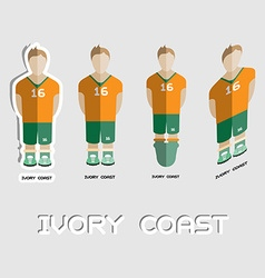 Ivory coast soccer team sportswear template vector