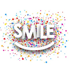 Smile paper background vector