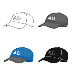 Baseball cap advertising icon in cartoon style vector