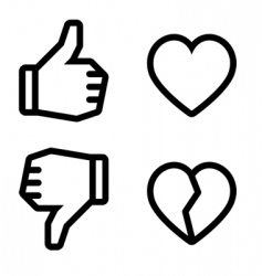 broken heart icons vector image