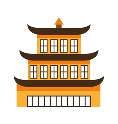 building culture japanese icon vector image vector image