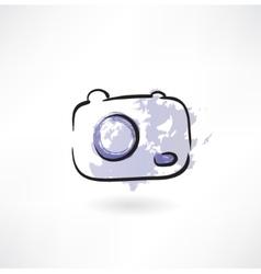 Camera grunge icon vector image vector image