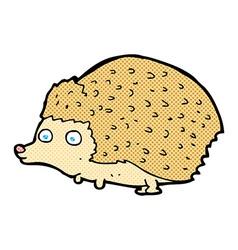 Comic cartoon hedgehog vector