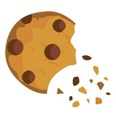 cookie broken vector image vector image