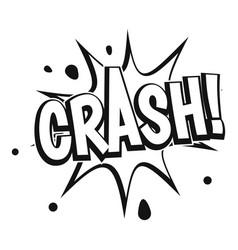 crash explosion icon simple style vector image vector image