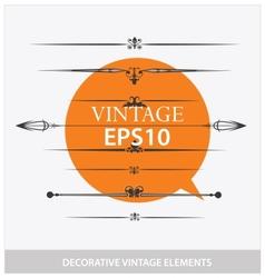 design classical decorative vintage elements vector image