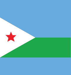 Djibouti flag for independence day and vector