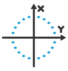 Dotted circle plot toolbar icon vector