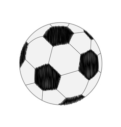 Football soccer ball scribble effect Flat design s vector image vector image