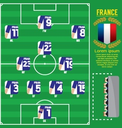 France football team strategy formation vector