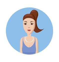 Girl avatar icon cartoon style vector image