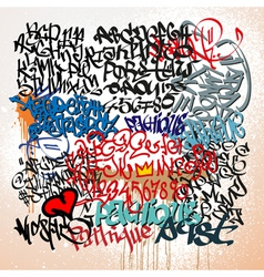Graffiti tags street art background vector