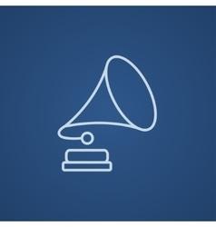 Gramophone line icon vector image vector image
