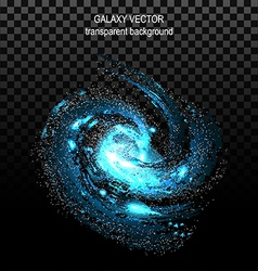 Image of galaxies nebulae cosmos and effect tunnel vector image