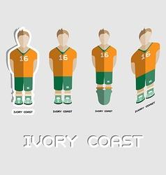 Ivory coast soccer team sportswear template vector