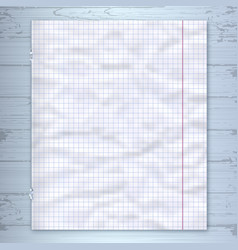 notebook page design template lined paper wooden vector image