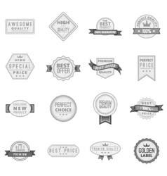 Premium quality label icons set vector image vector image