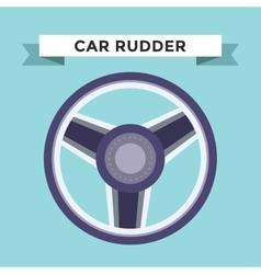 rudder flat icons set vector image