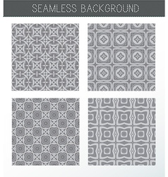 Seamless grey backgrounds collection vector image vector image