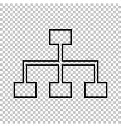 Site map line icon vector image vector image